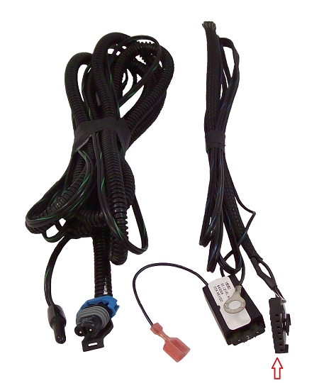 Wire Harness For Wedge Base Auto Dimming Mirror With Compass  Temperature  And Map Lights  36500
