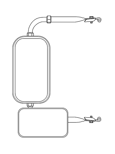 CIPA 49504 4 x 8 Clamp-On Convex