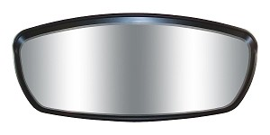 CIPA 01408  WAVE MIRROR 7 X 17 CVX  GRAINED BLACK
