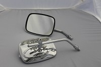CIPA # 01928 Motorcycle Live to Ride Adjustable Mirror Kit - Chrome