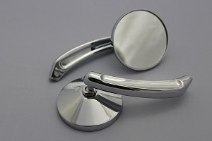 CIPA # 01930 Motorcycle Small Round Mirror Kit - Chrome