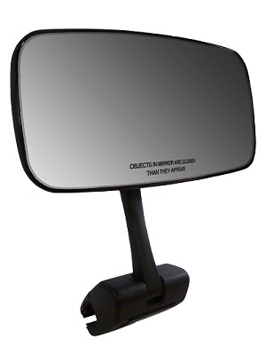 "CIPA # 02109 COMP Universal 7"" x 14"" Marine Mirror with Deluxe Cast Aluminum Cup Mounting Bracket"