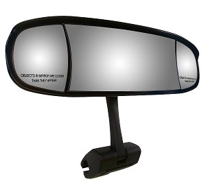 "CIPA 02129  Extreme Marine 7"" x 20"" Mirror Head with Cup-Mount Bracket"