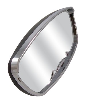 "CIPA 04876 Wave 7"" x 17"" Mirror Head (Black with Chrome Trim)"