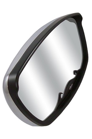 "CIPA 04877 Wave 7"" x 17"" Mirror Head (Chrome with Black Trim)"