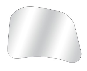 CIPA 10801GL Driver Side Replacement Glass for CIPA 10800, 10900, 10950, 11300 and 11400 Custom Towing Mirrors