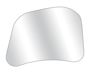 CIPA 10802GL Passenger Side Replacement Glass for CIPA 10800, 10900, 10950, 11300 and 11400 Custom Towing Mirrors
