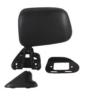CIPA 17402 Original Style Replacement Mirror Toyota Driver Side Manual Foldaway Non-Heated Black