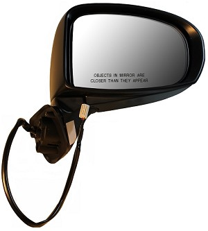 CIPA 17558 Original Style Replacement Mirror Toyota Passenger Side power remote, Non Heated, Foldaway, Black Cap