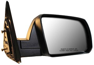 CIPA 17584 Original Style Replacement Mirror Toyota Passenger Side Manual Non-Heated Foldaway Black