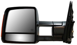CIPA 17591 Original Style Replacement Mirror Toyota Driver Side Power Remote Foldaway Heated Signal Black Towing Mirrors