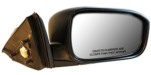CIPA 18438 Original Style Replacement Mirror Honda Passenger Side Power Remote Non-Heated Foldaway Black Cap