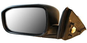 CIPA 18439 Original Style Replacement Mirror Honda Driver Side Power Remote Non-Heated Foldaway Black Cap