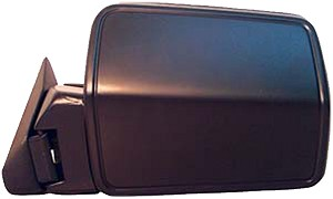 CIPA 44084 Original Style Replacement Mirror Jeep Driver Side Manual Non-Foldaway Non-Heated Black