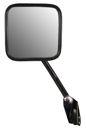 CIPA 44551 Original Style Replacement Mirror Jeep Passenger Side Manual Foldaway Non-Heated Stainless