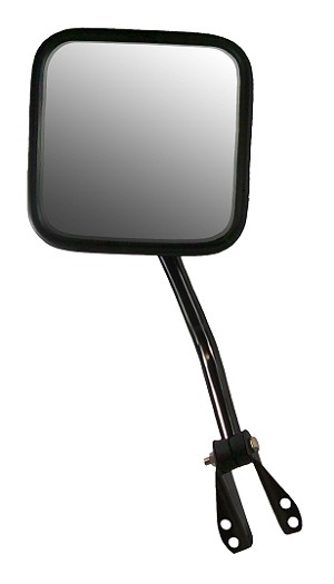 CIPA 44650 Original Style Replacement Mirror Jeep Driver Side Manual Non-Heated Black