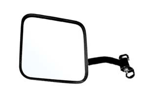 CIPA 44700 Driver Side Jeep Replacement Mirror Manual Non-foldaway Non-Heated Black