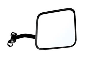 CIPA 44701 CJ-Style Passenger Side Jeep Replacement Mirror Manual Non-foldaway Non-Heated Black