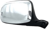 CIPA 45292 Original Style Replacement Mirror Ford Passenger Side Manual Foldaway Non-Heated Chrome Cap