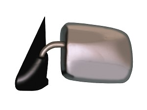 CIPA 46232 Original Style Replacement Mirror Dodge Driver Side Manual Foldaway Non-Heated Chrome