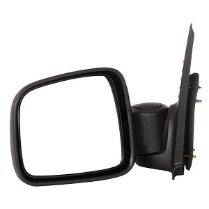 CIPA 46438 Original Style Replacement Mirror Jeep Driver Side Manual Foldaway Non-Heated Black