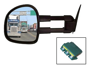 CIPA 73011 Magna Extendable Replacement Mirror Driver Side Dodge