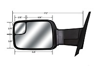 CIPA 73711 Magna Extendable Replacement Mirror Driver Side Dodge