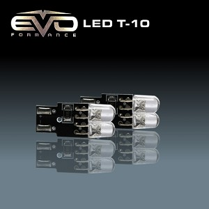 CIPA 93153 EVO Formance High Intensity LED 194 (T-10) Replacement Bulbs - Blue - Twin Pack