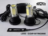 CIPA 93190 EVO Formance LED Cop Headlight Strobes - Red