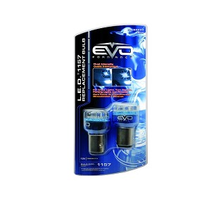 CIPA 93233 EVO Formance LED Replacement Bulb - Blue - 1157 - Twin Pack