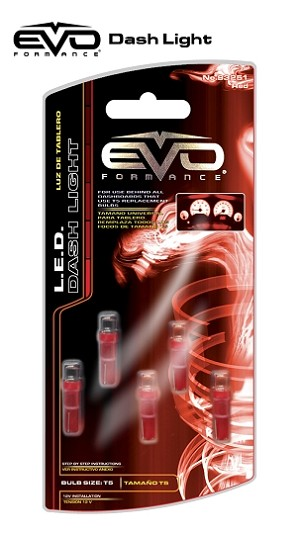 CIPA 93251 EVO Formance LED T5 Bulb Dashboard Light- Red