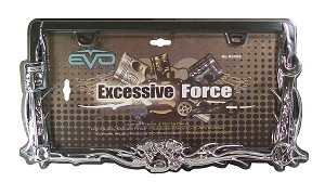 "CIPA 93456 License Plate Frame ""Excessive Force"""