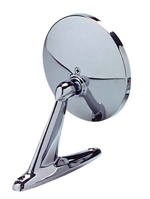 CIPA 17000 Universal Chrome Car Mirror - Round