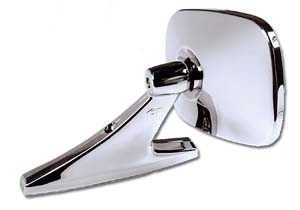 CIPA 18000 Universal Chrome Car Mirror - Oblong