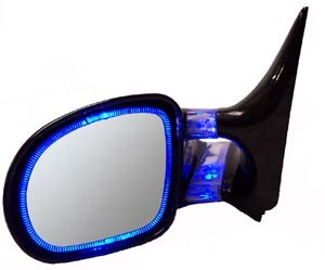 CIPA 90055 Optic Glow Mirrors, Blue, 1993-2001 Ford