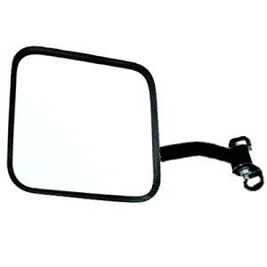 CIPA 44801 CJ-Style Passenger Side Jeep Replacement Mirror Manual Non-foldaway Non-Heated Black