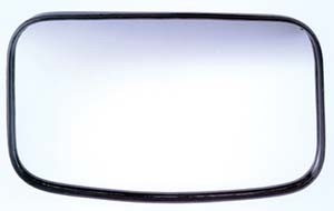 "CIPA # 49504 Oblong 4"" x 8"" Clamp-On Convex HotSpot Mirror"
